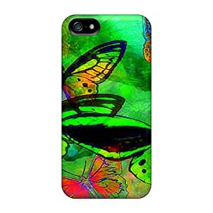 JnYSHUS4361EWwcu Tpu Case Skin Protector For Iphone 5/5s Softness Of Green Wings With Nice Appearance