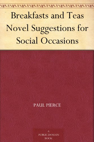 (Breakfasts and Teas Novel Suggestions for Social)