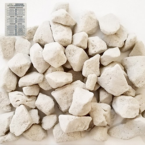 Clay Grow Rocks (Growstone GS-1 Hydro Stones Hydroponic Substrate, Chunky Soil Aerator, Soil Amendment - 2 Gallon + Twin Canaries Chart)