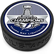 Mustang Product Tampa Bay Lightning 2021 Stanley Cup Champions 3D Textured Souvenir Hockey Puck