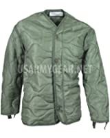 US Army Military M-65 Field Jacket Quilted OD Olive Drab Green GI Coat Liner GI