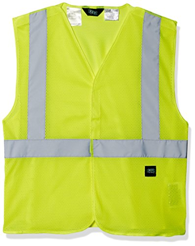 Key Apparel Men's ANSI Ii Class 2 Hi-Visibility Break-a-Way Mesh Vest, Hi/Vis Yellow, (Yellow Polyester Breakaway Vest)
