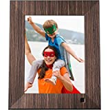 NIX Lux 8 Inch Digital Photo Frame X08F Wood - Digital Picture Frame with IPS Display, Motion Sensor, USB and SD Card Slots and Remote Control, 8 GB USB Stick Included