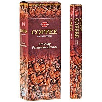 - Coffee - Box of Six 20 Stick Tubes - HEM Incense
