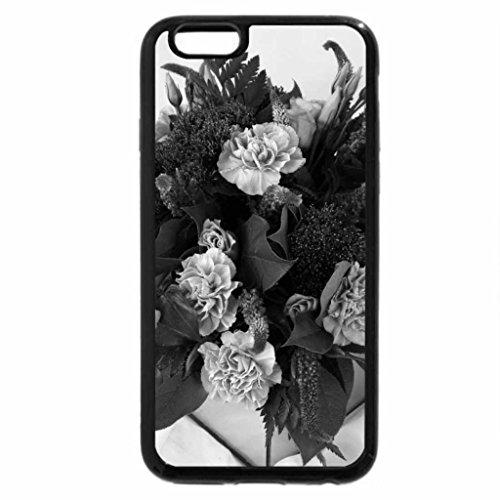 iPhone 6S Plus Case, iPhone 6 Plus Case (Black & White) - Beautiful Bouquet