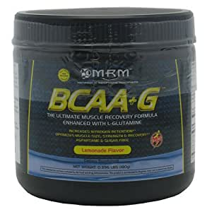 BCAA+G with L-Glutamine, Muscle Recovery, Lemonade, 180 Grams, From MRM