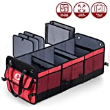 Crospack Car Trunk Organizer for SUV Truck Backseat 3 Large compartments Trunk Organizer for car Auto Durable Collapsible Cargo Storage for Groceries
