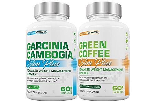 Slim Plus Garcinia Cambogia and Green Coffee - Slimplus Garcinia and Green Coffee Avoirdupois Loss Combo