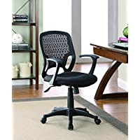 Coaster 800056 Mesh Task Chair with Gas Lift, Black Finish