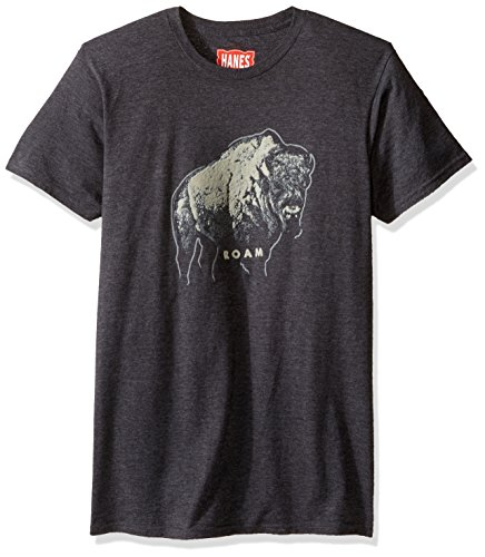 Men's Graphic Tee - Rugged Outdoor T Shirt, Black