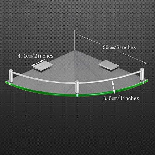 YXN Space Aluminum Glass Bathroom Shelf Bathroom Triangle Single Metal Pendant Corner Dresser (Size : 20cm) by YXN (Image #1)