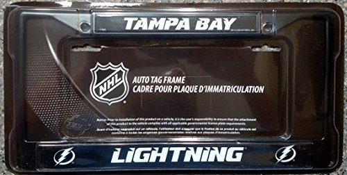 Rico NHL Lightning Tampa Bay Black Chrome Frame Sports Fan Automotive Accessories, Multicolor, One Size