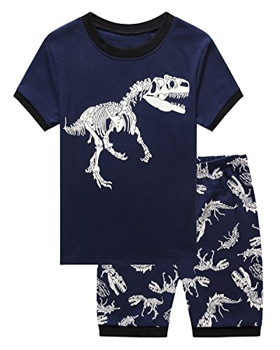 IF Pajamas Dinosaur Little Boys Shorts Set Pajamas 100% Cotton Clothes Toddler Kids 4T