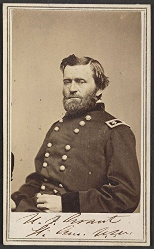 [1862 Photo U.S. Grant, Lt. Gen. U.S.A. signed portrait of Ulysses S. Grant in the uniform of a Major General.] (Signed Photo Bar)