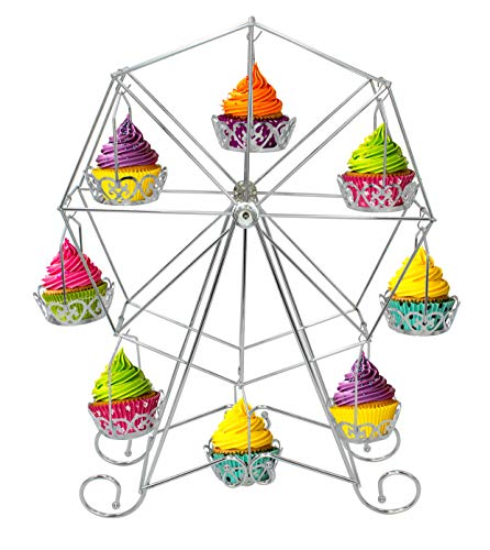 Royal Brands Cupcake Stand Ferris Wheel Holds 8 Cupcakes Muffins For Parties Birthdays Baby Showers (Decoration Wheel Ferris)
