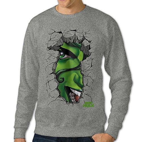 [U9 Men's She Hulk Face Crewneck Sweater] (Green Arrow Hoodie Costume)