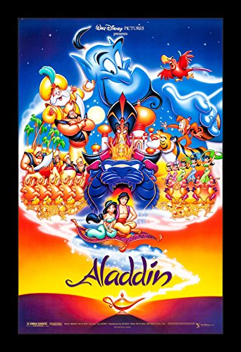 Aladdin - 11x17 Framed Movie Poster by Wallspace