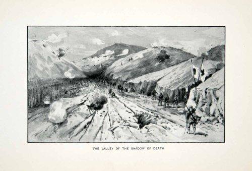 Russo Shadow (1905 Print Russo Japanese War Battle Port Arthur Valley Shadow Death Trench Army - Original Halftone Print)
