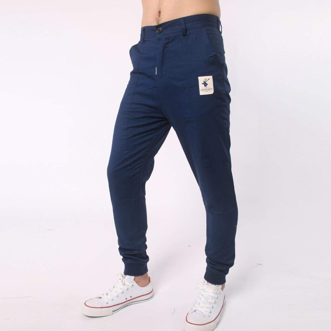 Willsa Mens Pants Trousers Harem Sweatpants Slacks Casual Jogger Sportwear Baggy Comfy Pant