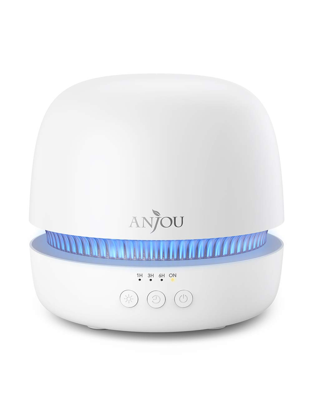 Essential Oil Diffuser, Anjou 300ml Ultrasonic Aroma Diffuser with Continuous Aromatherapy, Whisper-Quiet, 2 Mist Outputs, BPA Free, Waterless Auto Shut-Off, 7 Color Light, Aromatherapy Diffuser