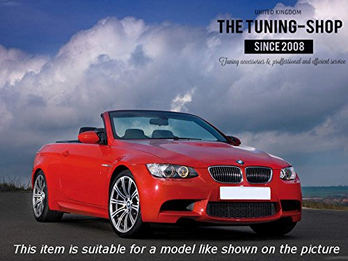 The Tuning-Shop Ltd for BMW E90 E91 E92 E93 2005-2013 Automatic Shift /& E Brake Boot Black Genuine Leather M3 ////// Stitching