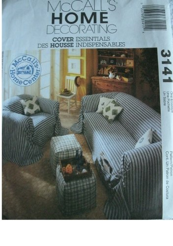 COVER ESSIENTIALS SOFAS, CHAIRS, OTTOMAN AND PILLOW MCCALLS HOME DECORATING PATTERN 3141