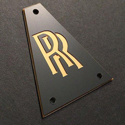 - GUITAR TRUSS ROD COVER - Custom Engraved - JACKSON - Randy Rhoads RR BLACK GOLD