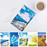 Colorful Category Page Day Planner Divider Index Page Tab Cards Notebook Accessories, Match for A6 6-Holes Ring Binders/Planners Notebook/School Stationery, 3 Sets(5 Sheets/Set, Nature Scenery Wind)