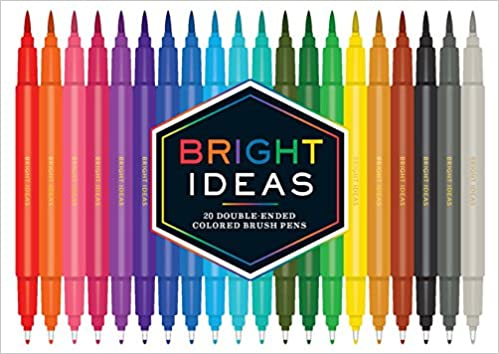 bright ideas 20 double ended colored brush pens chronicle books