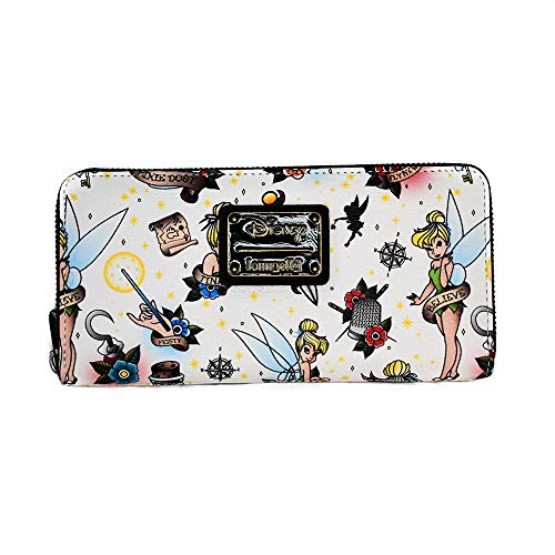 Loungefly-Disney-Tinkerbell-Tattoo-AOP-Zip-Around-Wallet