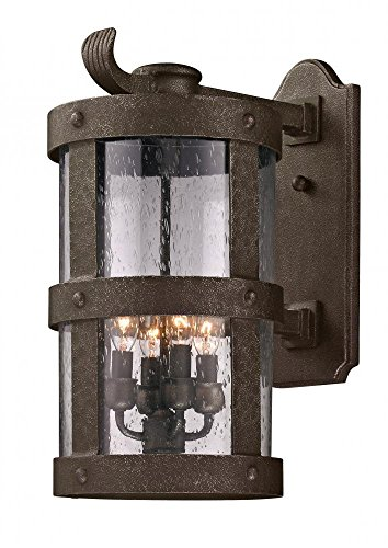 Troy Landscape Lighting - Troy Lighting Barbosa 4-Light Outdoor Wall Light - Barbosa Bronze Finish with Clear Seeded Glass