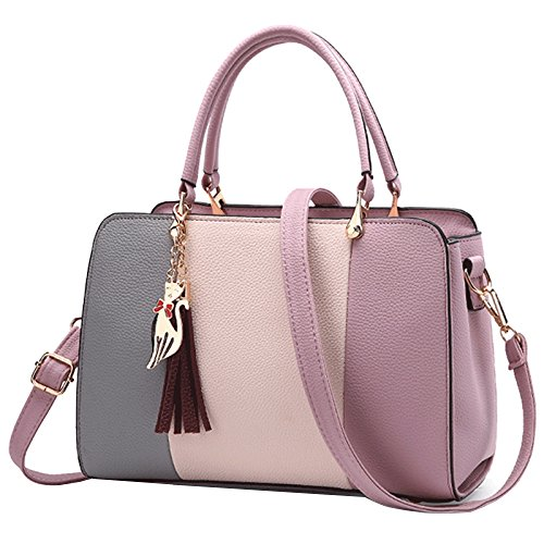 Messenger Shoulder Briefcase Casual Leather Bag Mother Handbags Bag FLHT Grey Handbag Wild Bag qtw48AaT