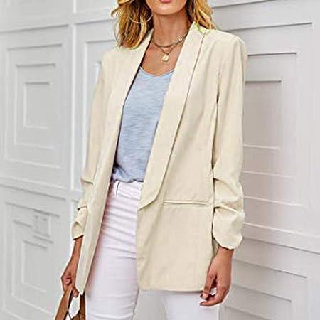 Amazon.com: Akabsh Blazer casual de trabajo para mujer ...