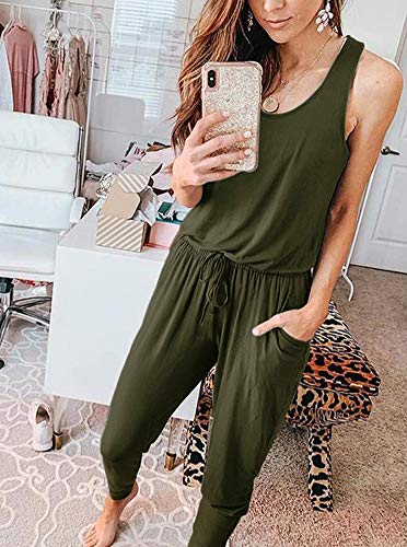 Summer Casual Sleeveless Tank Top Loose Jumpsuit