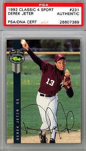 Derek-Jeter-Signed-1992-Classic-Rookie-Card-231-New-York-Yankees-PSADNA-Certified