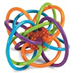 Manhattan 200940 Winkel Rattle and Sensory Teether Activity Toy, 5L x 3.5H x 4W in (Baby Product)