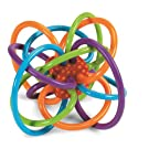 Manhattan 200940 Winkel Rattle and Sensory Teether Activity Toy, 5L x 3.5H x 4W in