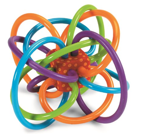 Manhattan Toy Winkel Rattle and Sensory Teether - Infant Baby Rattle