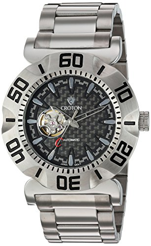 CROTON Men's 'Vortex' Japanese Stainless Steel Automatic ...