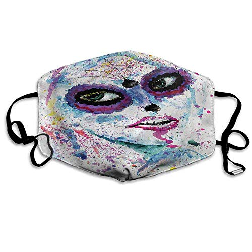 Girls Dust Mouth Mask Halloween Lady Make Up for Men and Women W4