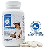 AKC Puppy Vitamins For Small Dogs | Advanced Multivitamin For Dogs | Made in USA | 60 Chewable Tablets