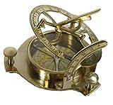 NAUTICALMART 4'' Sundial Compass - Solid Brass Sun Dial