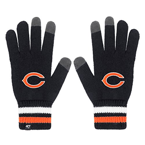 NFL Chicago Bears '47 Jumble Gloves, One Size, Navy (Chicago Bears Jacket compare prices)