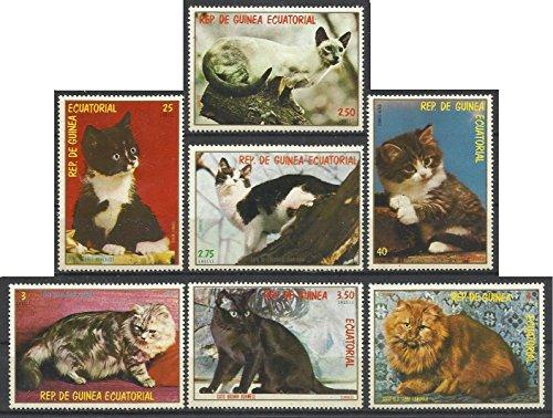 Equatorial Guinea Postage Stamps -1978 7v. MNH Complete Set Cats Pets Animals Fauna