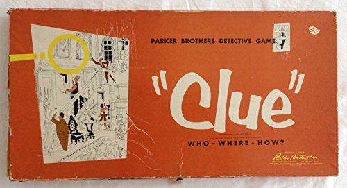 Parker Brothers Vintage Clue Game - 1956
