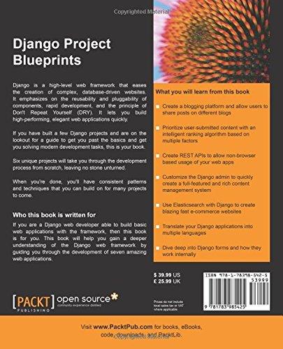 Django project blueprints asad jibran ahmed 9781783985425 django project blueprints asad jibran ahmed 9781783985425 amazon books malvernweather Gallery