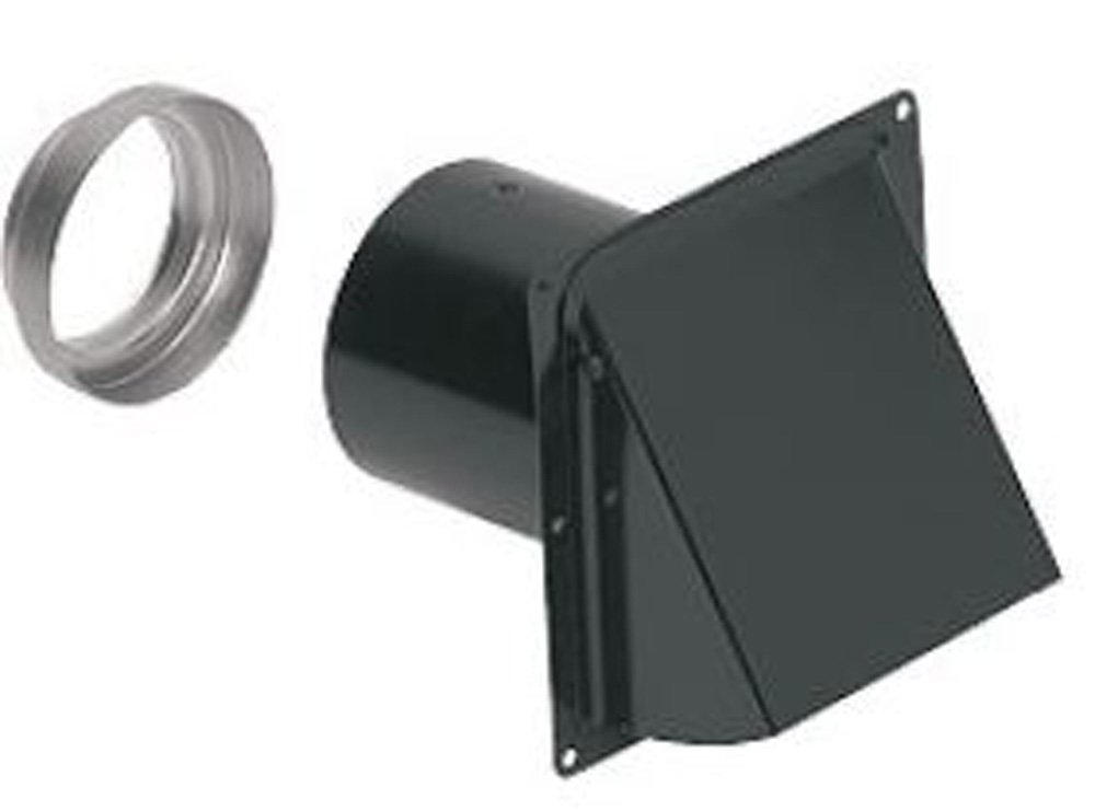 Steel baked black enamel finish for durability and long life that stands up to the elements (not for use with dryers)