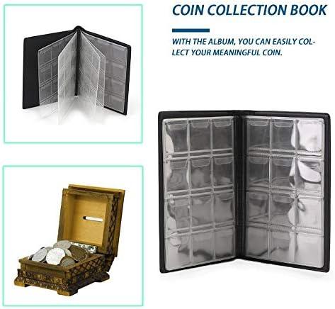 Greenwoodhomer Collection de pi/èces de monnaie comm/émorative de qualit/é sup/érieure pouvant contenir 120 pi/èces