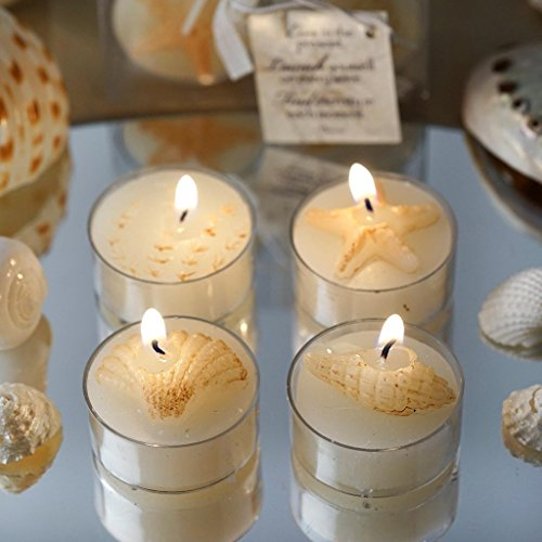BalsaCircle 24 Caribbean Island Beach Candles - 4 Gift Boxes - Wedding Bridal Shower Party Favors Room Home Decorations Supplies