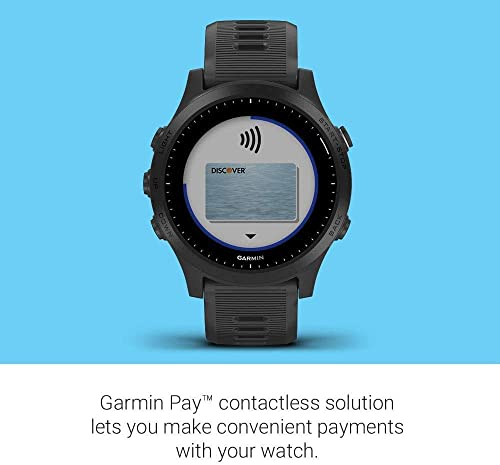 Garmin Forerunner 945 GPS Running Smartwatch with Included Wearable4U Bundle Black White Earbuds